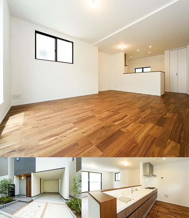 <2号棟>(LDK、キッチン、駐車スペース)