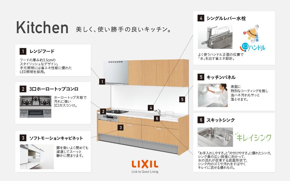 kitchen 美しく、使い勝手の良いキッチン。